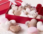 バレンタイン☆ハートのチョコマカロン