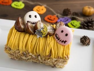 かぼちゃモンブランロールケーキ