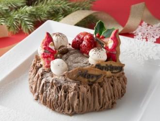チョコレートクリスマスデコレーションケーキ