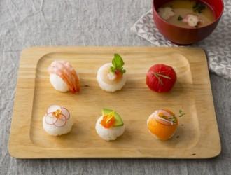 和カフェ風手まり寿司