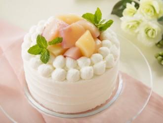 高級ブランド桃のショートケーキ