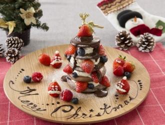 クリスマスタワーパンケーキ