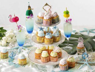 ハワイアンウェディングカップケーキ